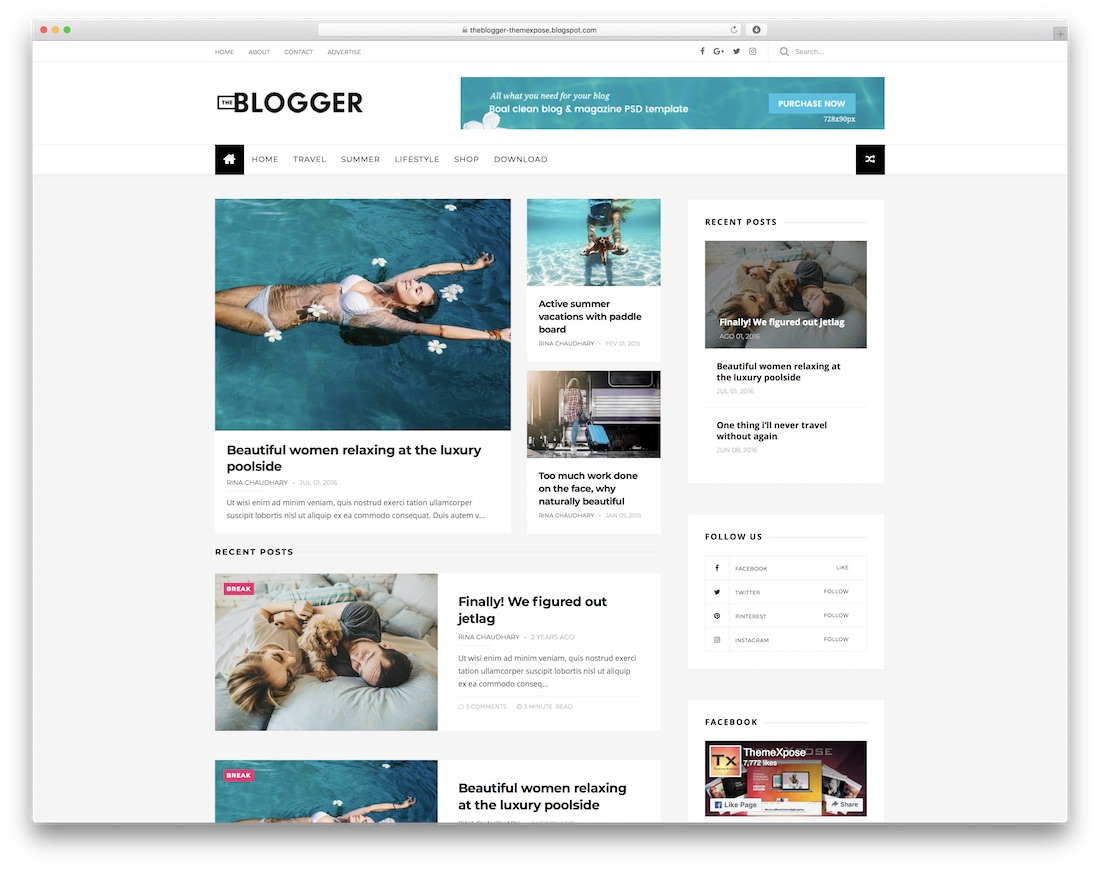 theblogger free blogger template