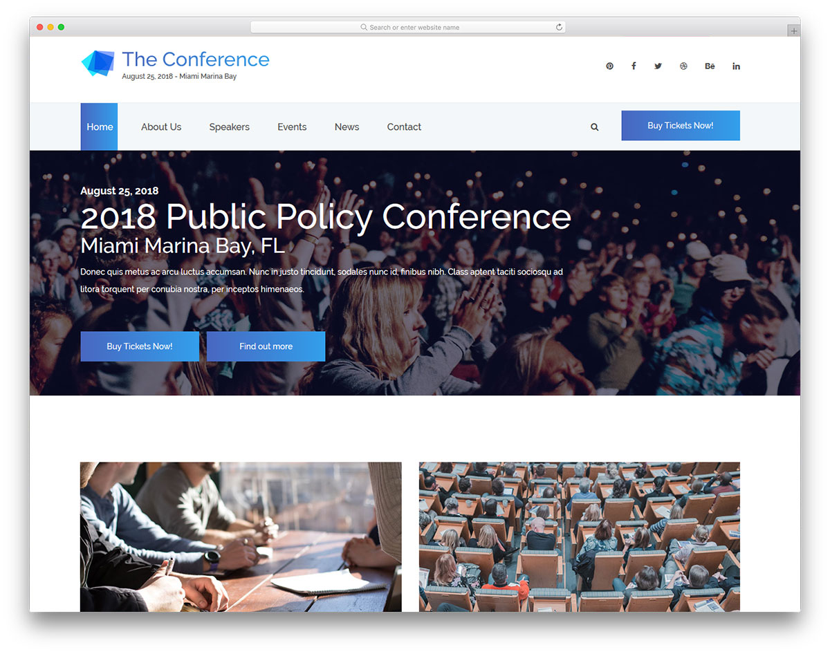 theconference free template