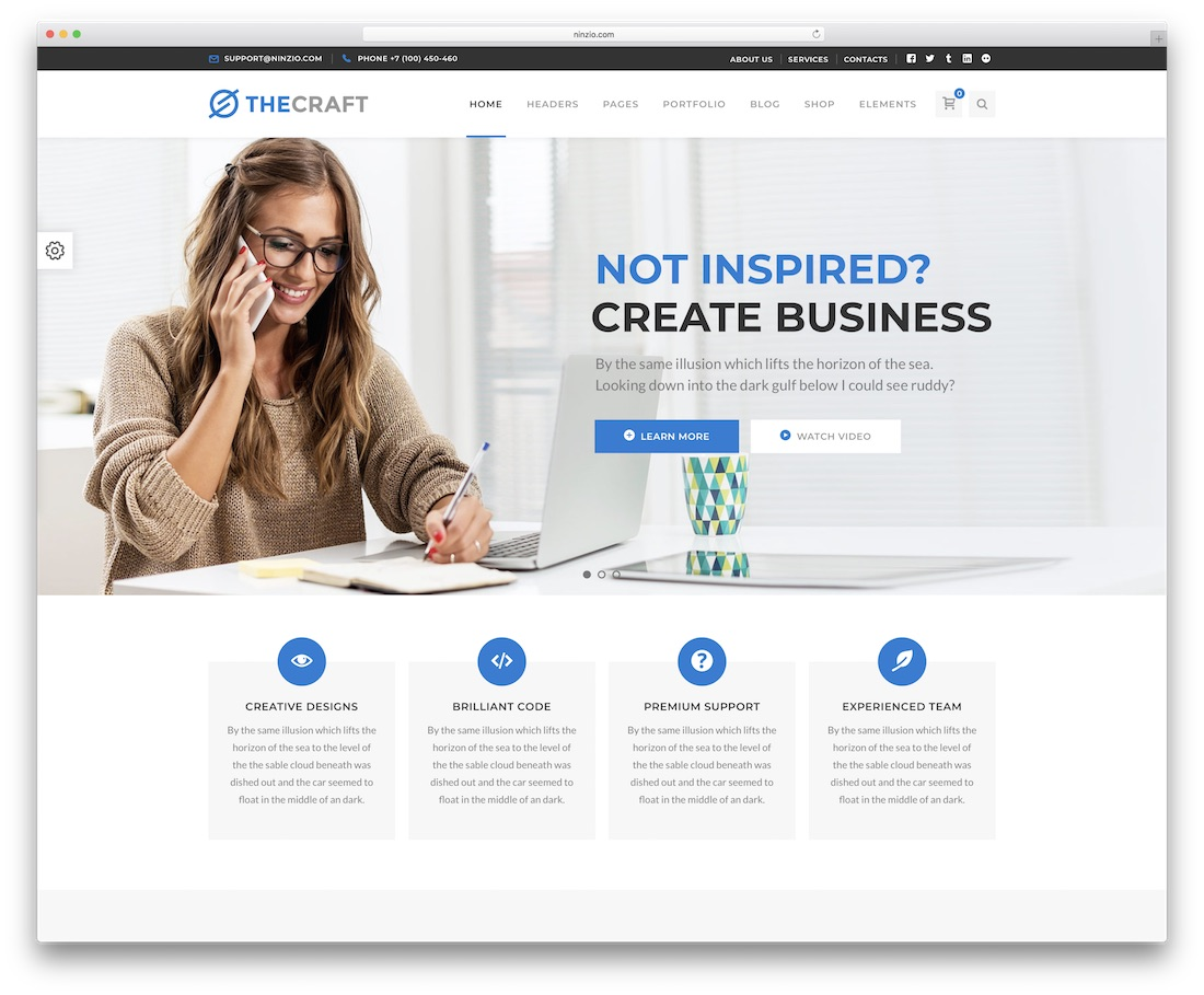 thecraft wordpress business theme