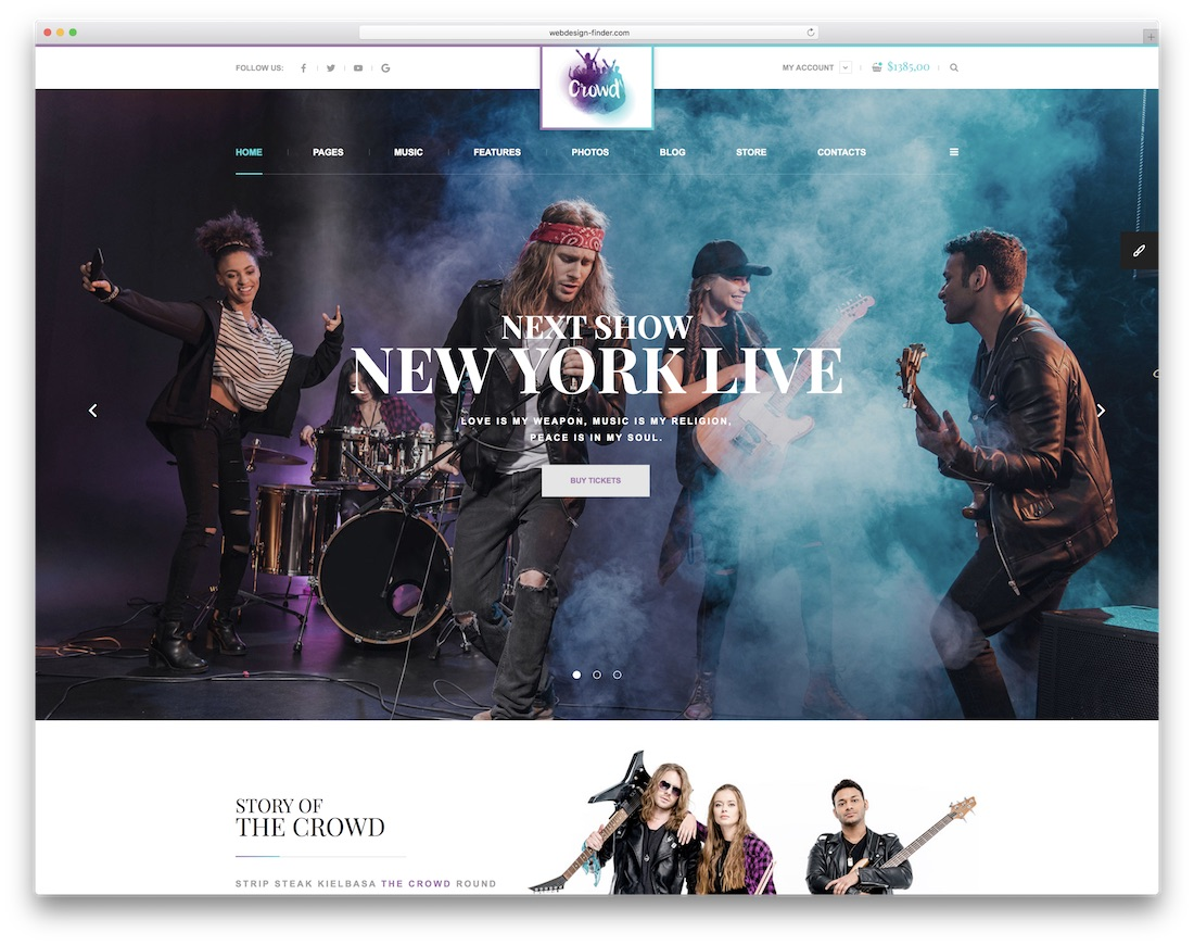 thecrowd bootstrap music template