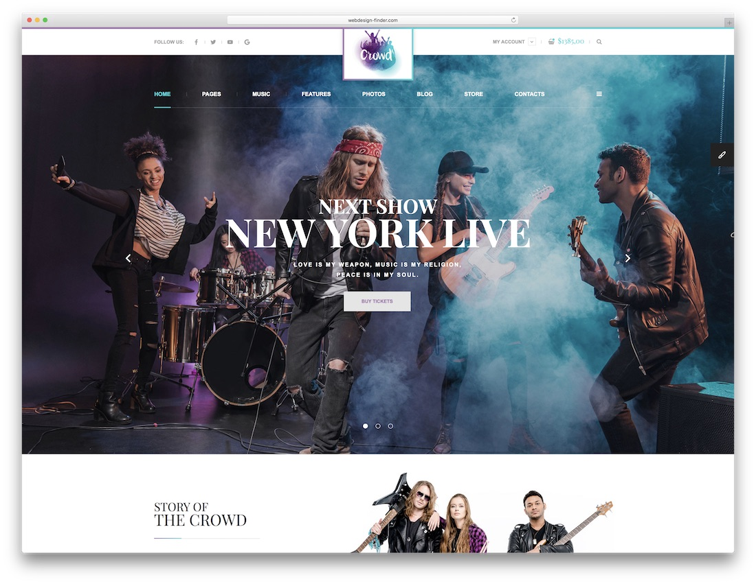 thecrowd music website template