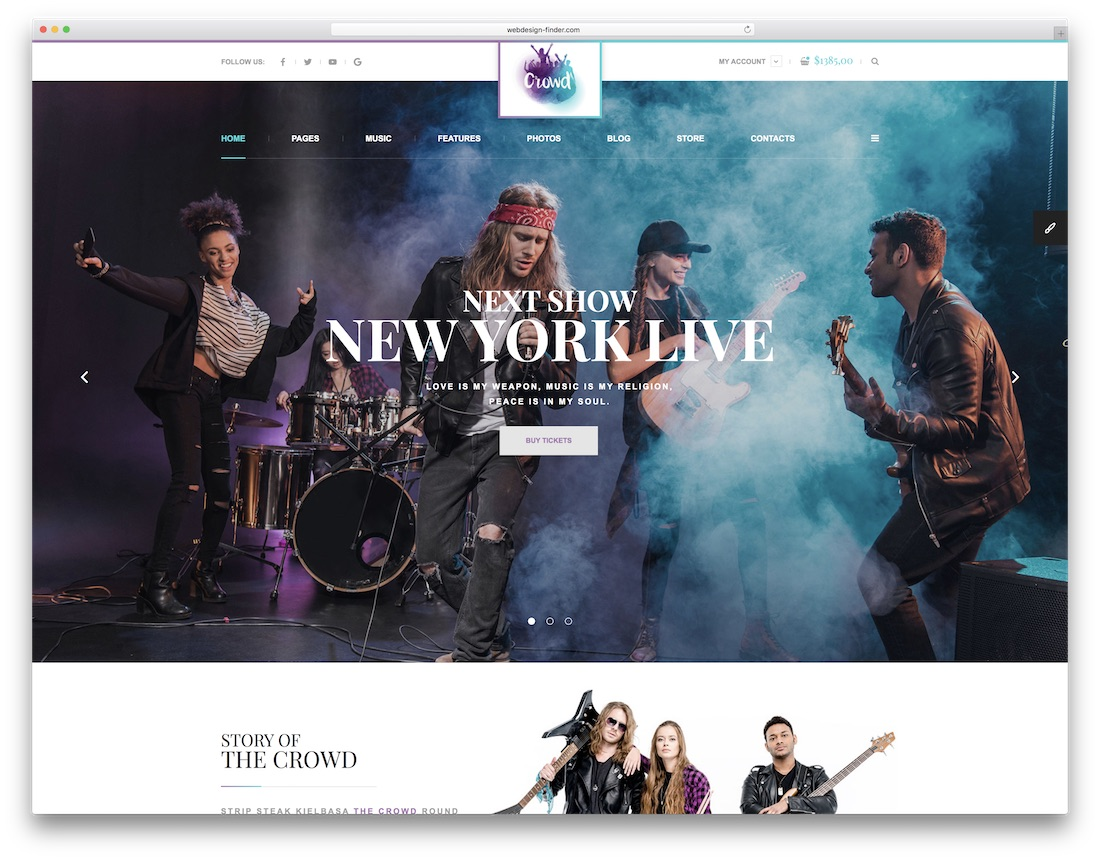 thecrowd musician website template