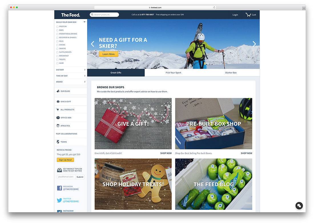 thefeed-sports-goods-ecommerce-site-example