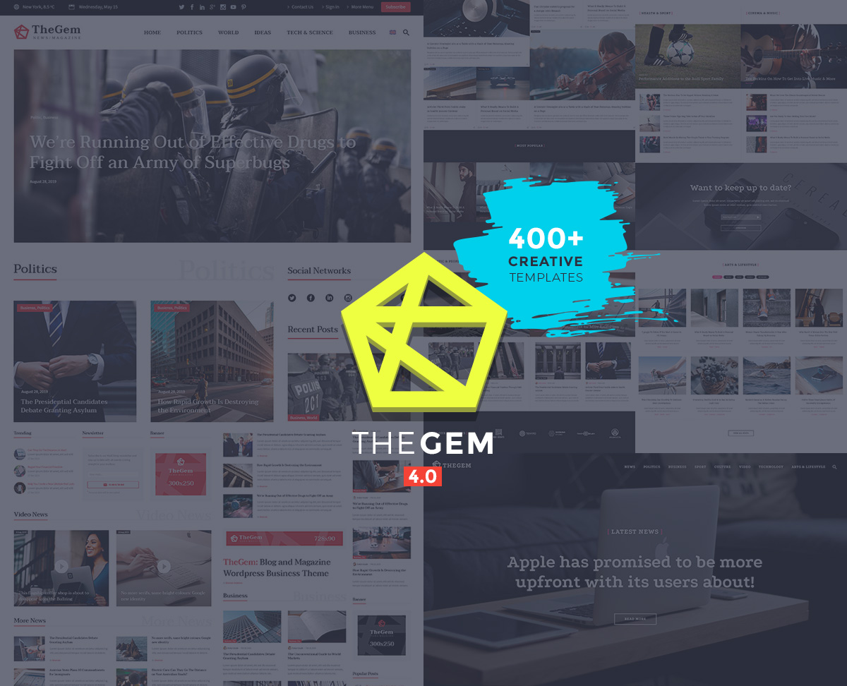 TheGem - fast news WordPress theme
