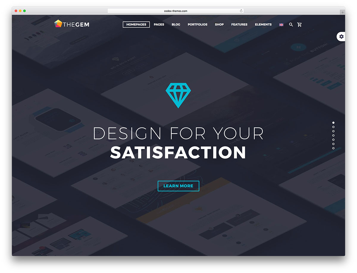 Thegem Is A Versatile And Responsive WordPress Theme It S Built In More Than 70 Creative Concepts For Any Purpose Diffe Kinds Of Business Are Doable