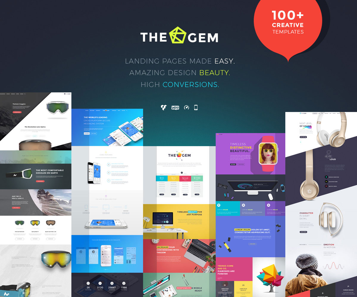Thegem Simple Landing Page Template
