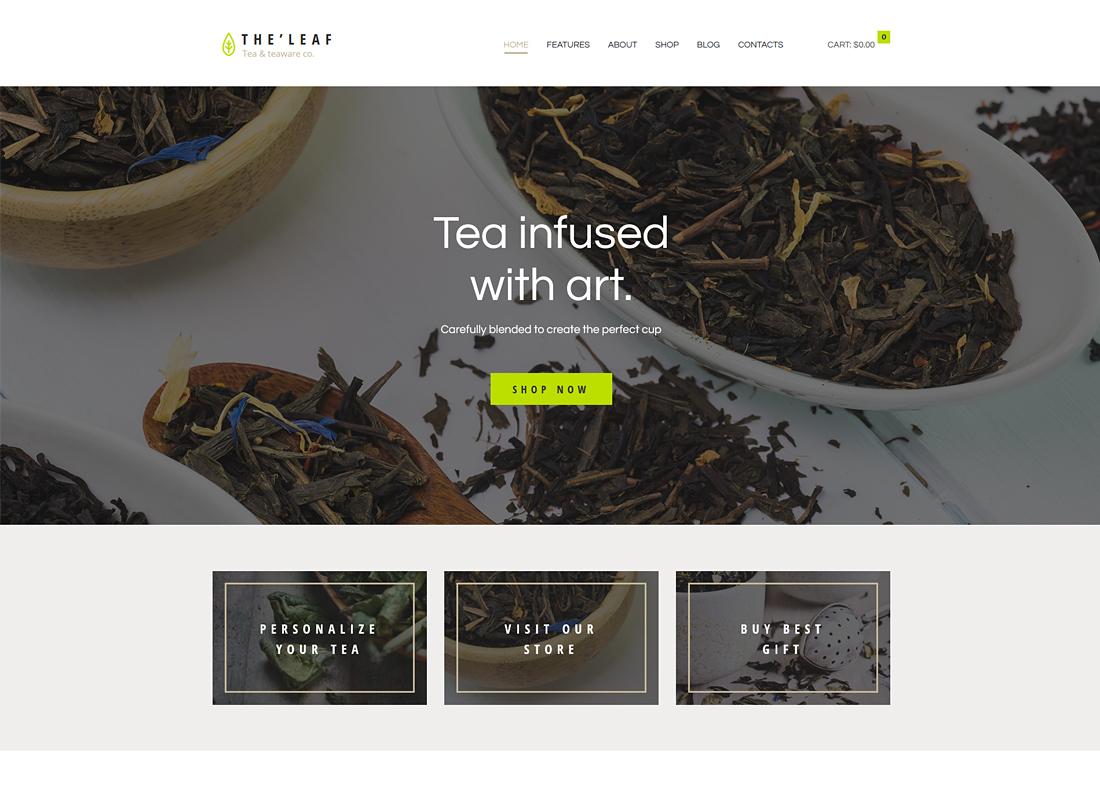 TheLeaf - Tea Production Company & Online Tea Shop WordPress Theme