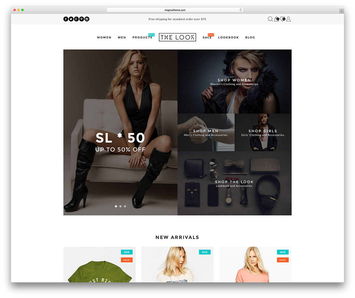 Beautiful Responsive WordPress Shop Themes Colorlib - Commercial invoice template word free top 10 women's online clothing stores