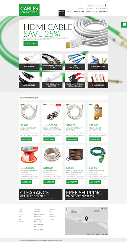Durable Cables Wires WooCommerce Theme