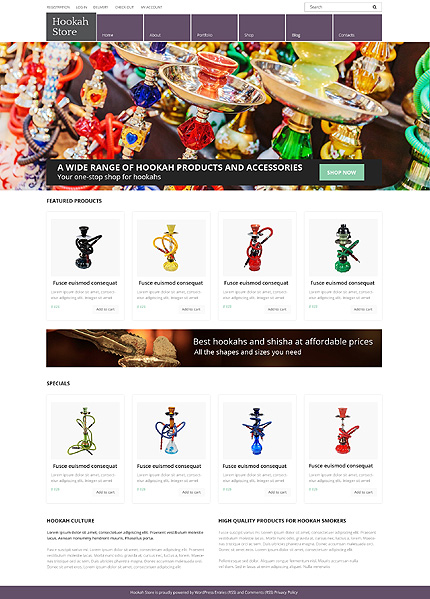 Hookah Store WooCommerce Theme