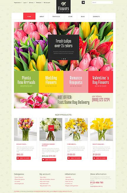 Floristic Store WooCommerce Theme