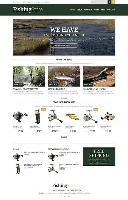 Fishing Responsive WooCommerce Theme