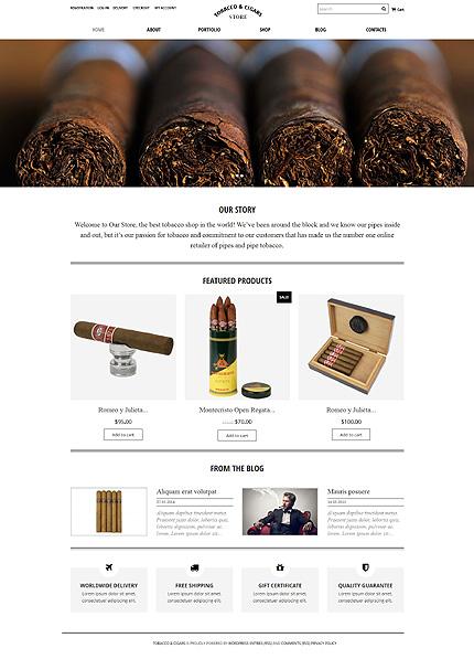 Tobacco Cigars Store WooCommerce Theme