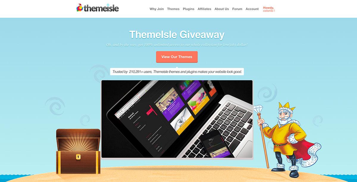 Giveaway Week At ThemeIsle – Win 1 Of 5 ThemeIsle Pirate Club Memberships