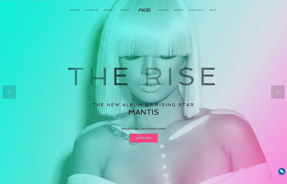 23 of the best wordpress themes for musicians singers and artists 2018