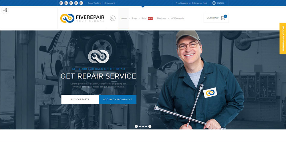 456 Repair - Mechanic Shop & Garage / Workshop / Car Service Theme