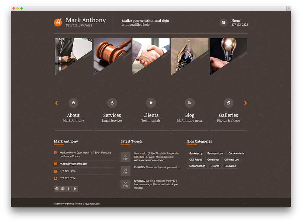 themis - responsive law firm theme