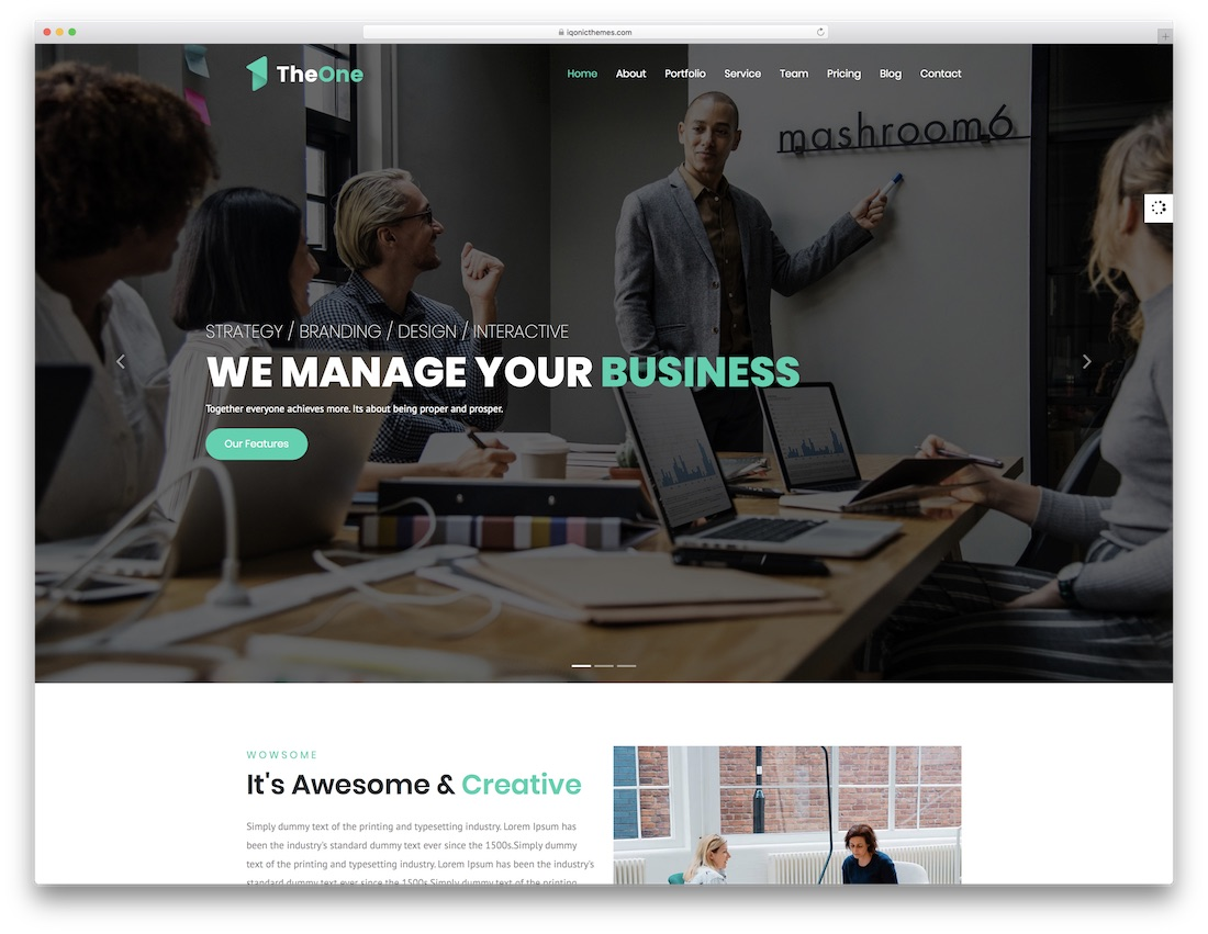 theone bootstrap website template