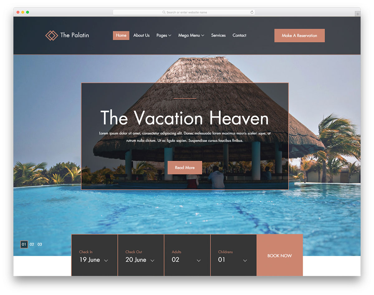 The Palatin Free Hotel Booking Website Template 2019 Colorlib