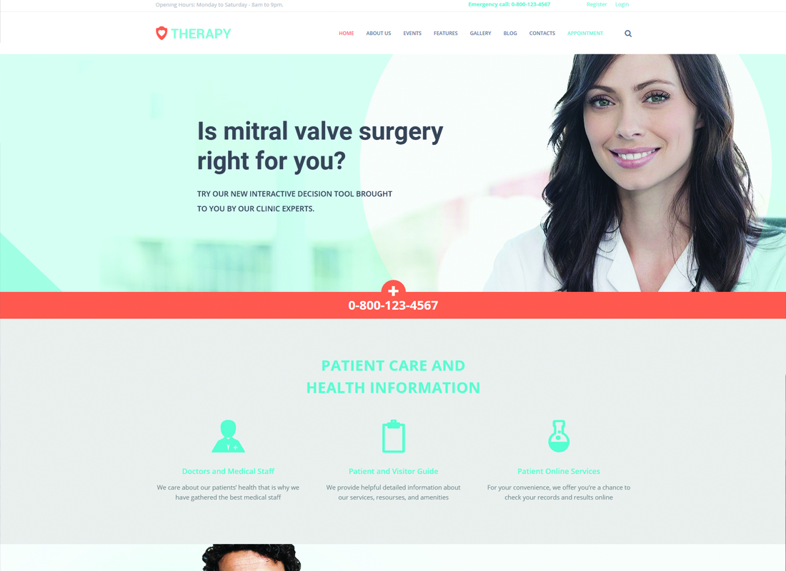 Therapy - Health and Medical WordPress Theme