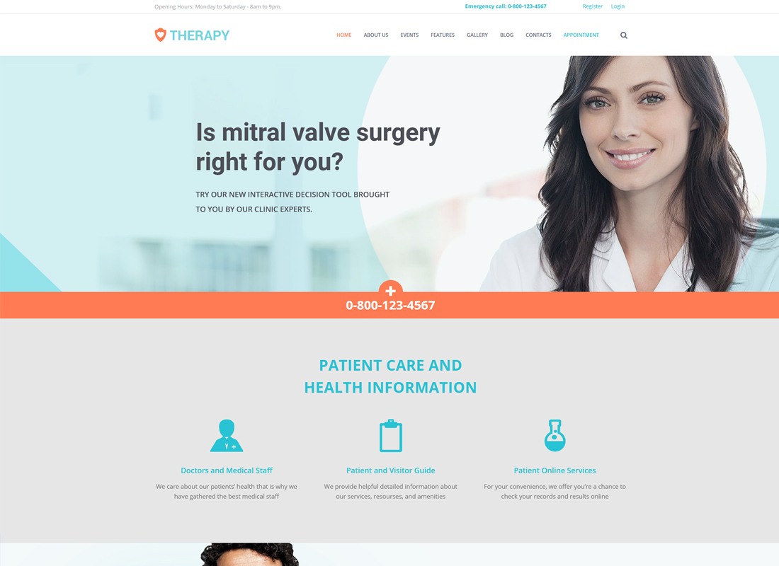 Therapy | Health and Medical WordPress Theme