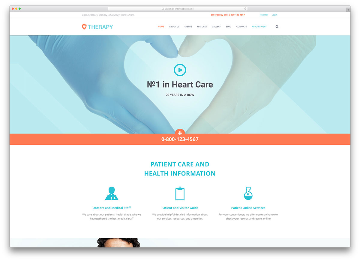 Top 20 Simple WordPress Themes For Doctors And Medical ...