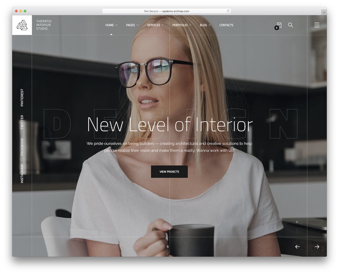 theratio interior design wordpress theme