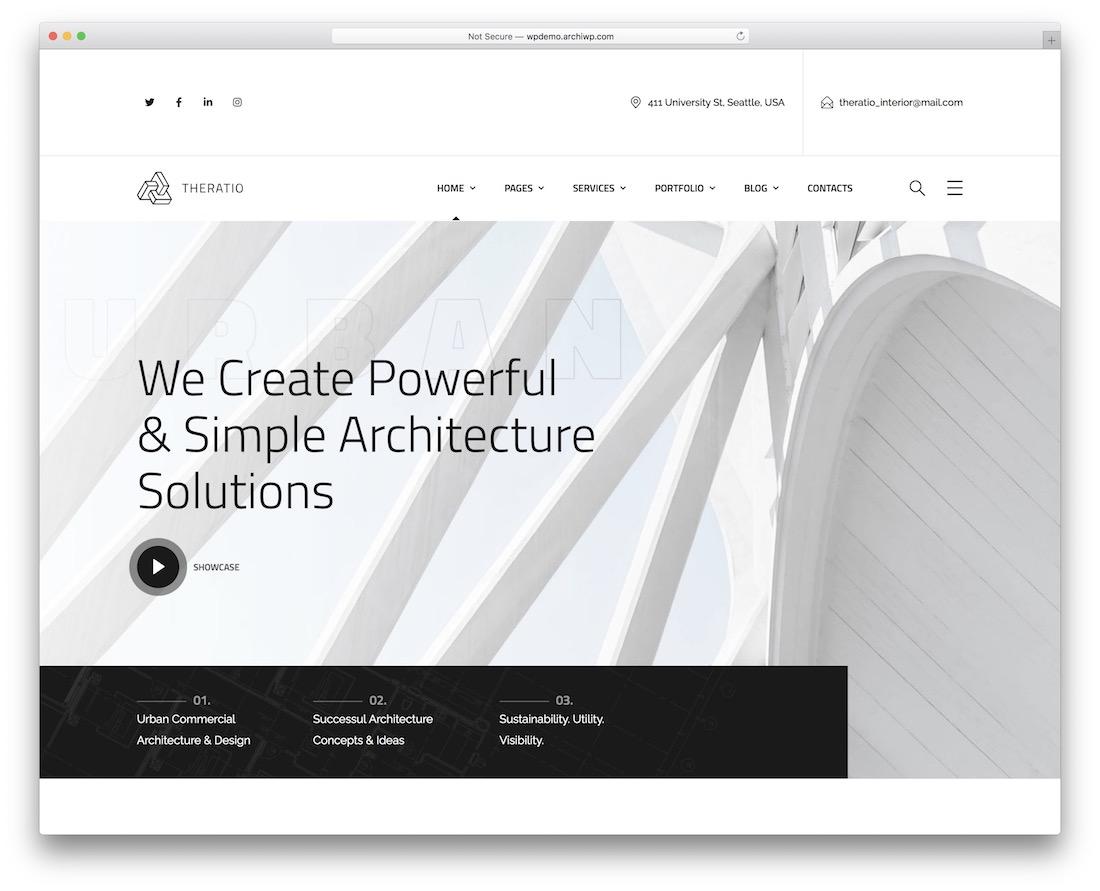 theratio wordpress theme for architects