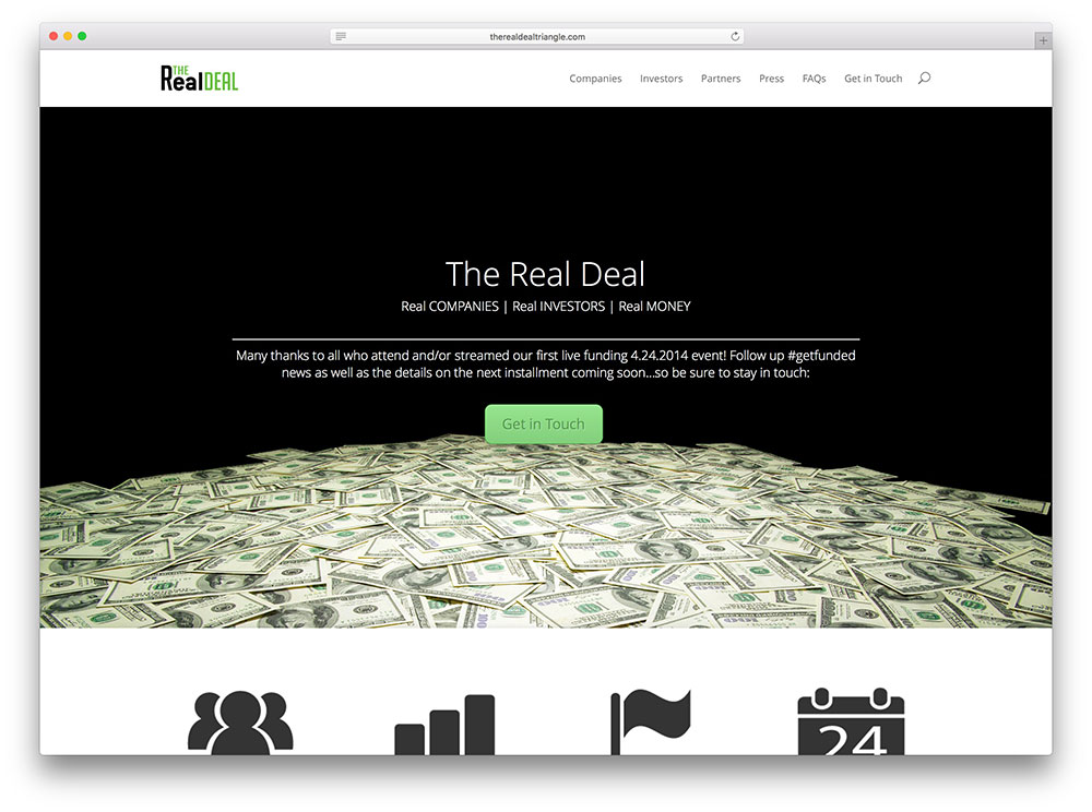 therealdealtriangle-startup-website-based-on-divi