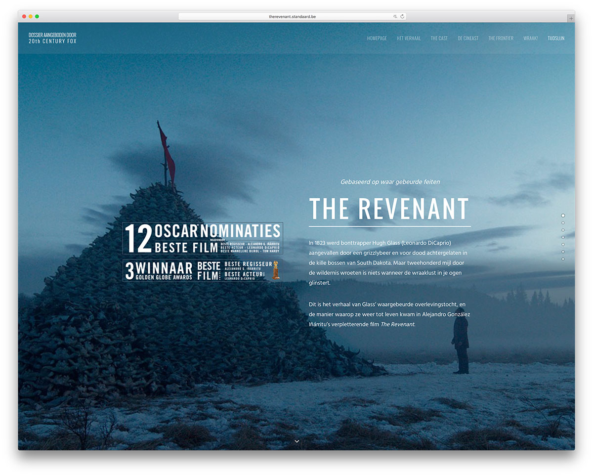 therevenant-standaard-movie-website-with-uncode