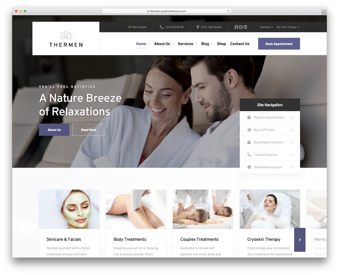 thermen massage wordpress theme