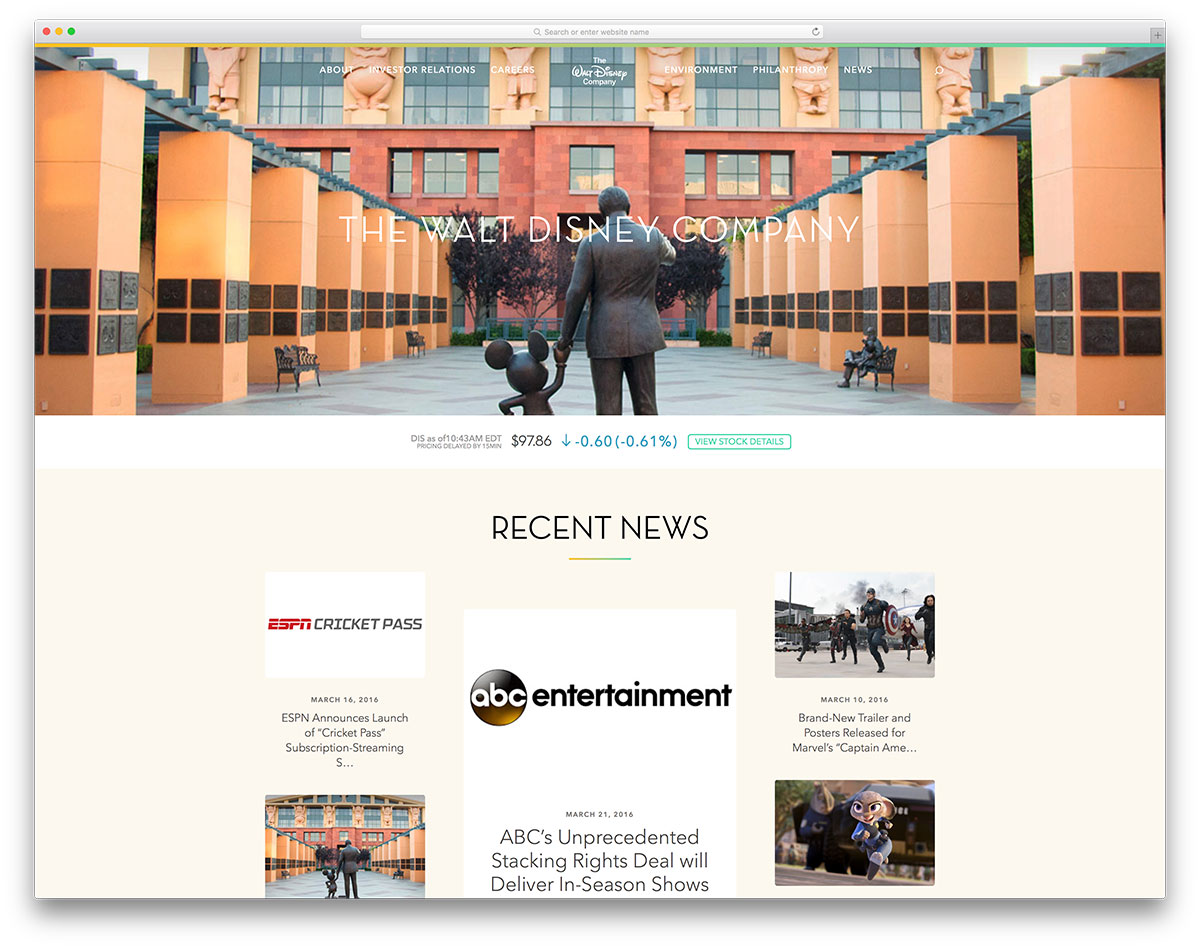 thewaltdisneycompany-entertainment-site-example