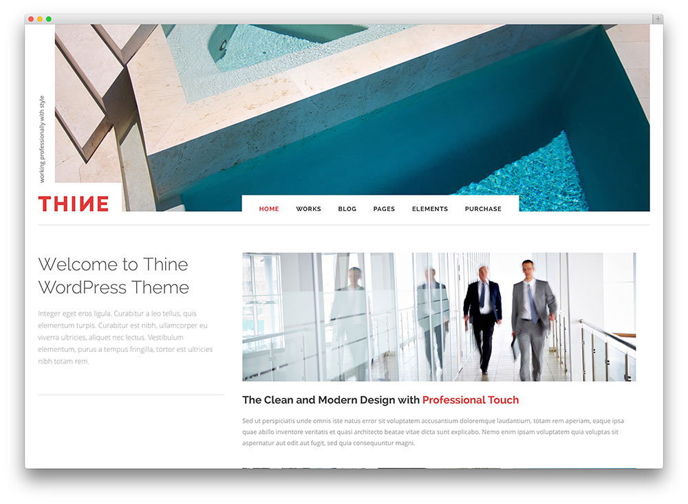 thine office modern finance wordpress theme