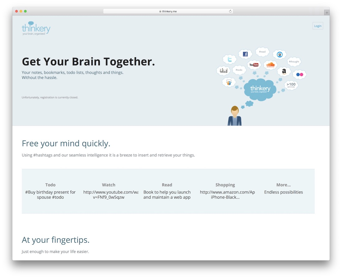 thinkery online notes taking tool
