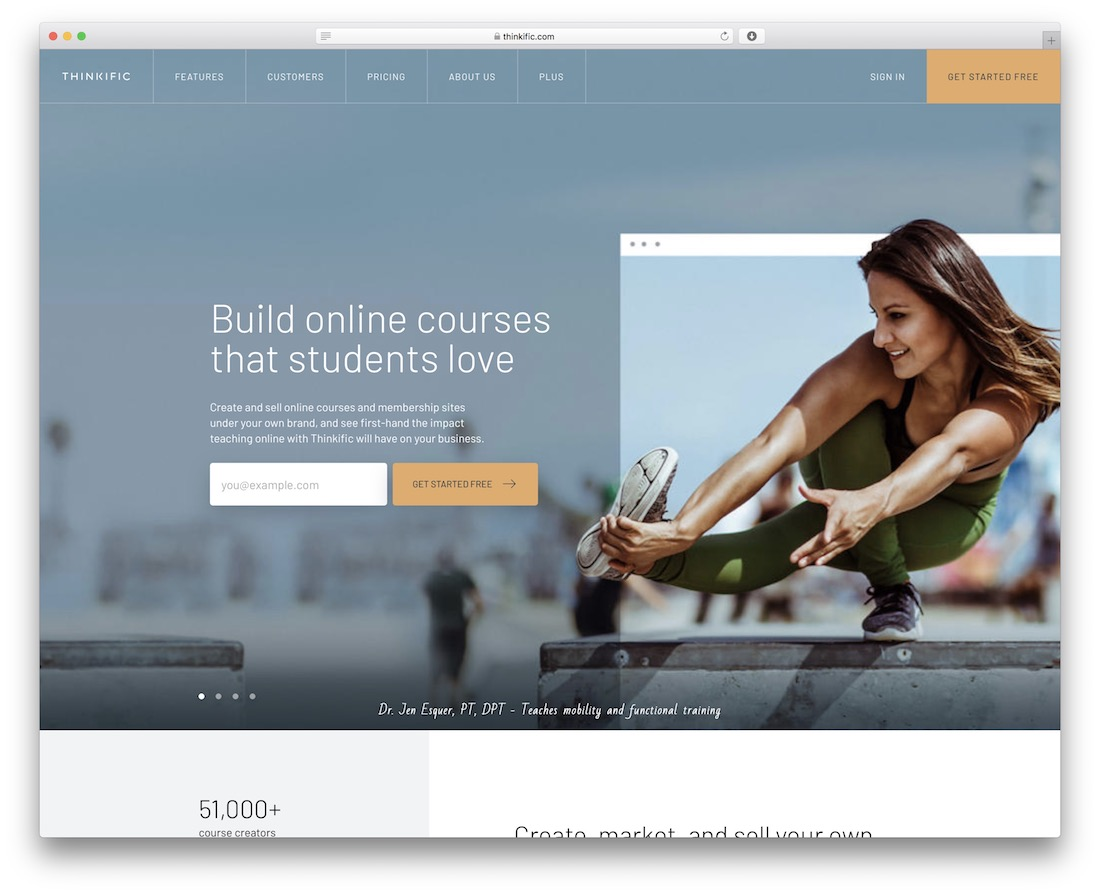 thinkific platform for selling online courses