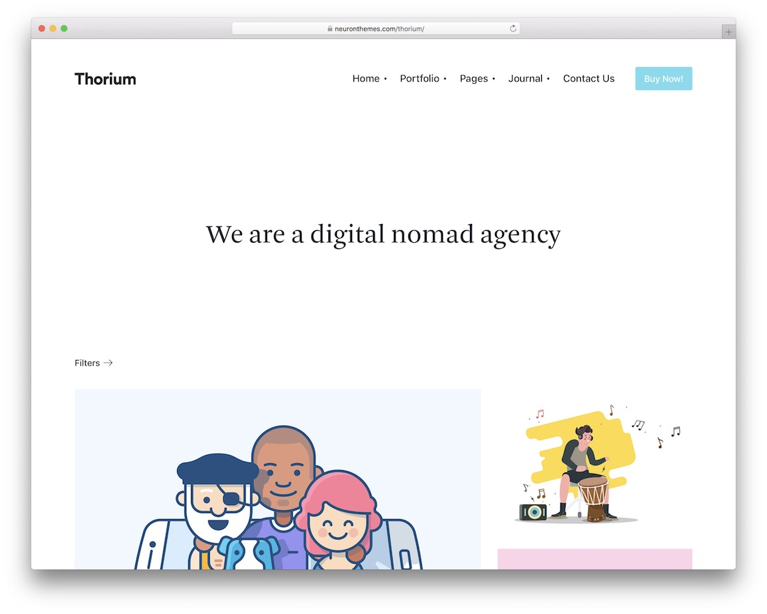 thorium wordpress theme for freelancers