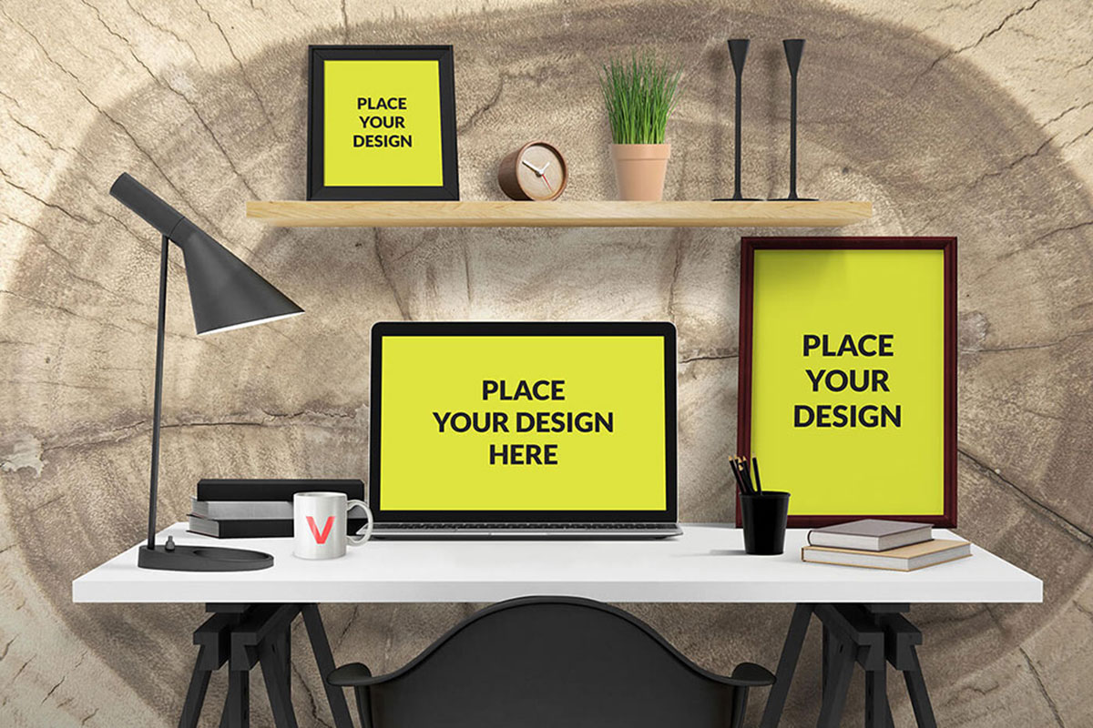 25 Essential Desk Mockups For Graphic Design