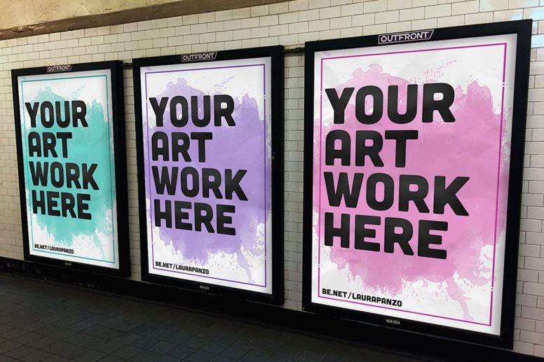 Subway Ad Mockups