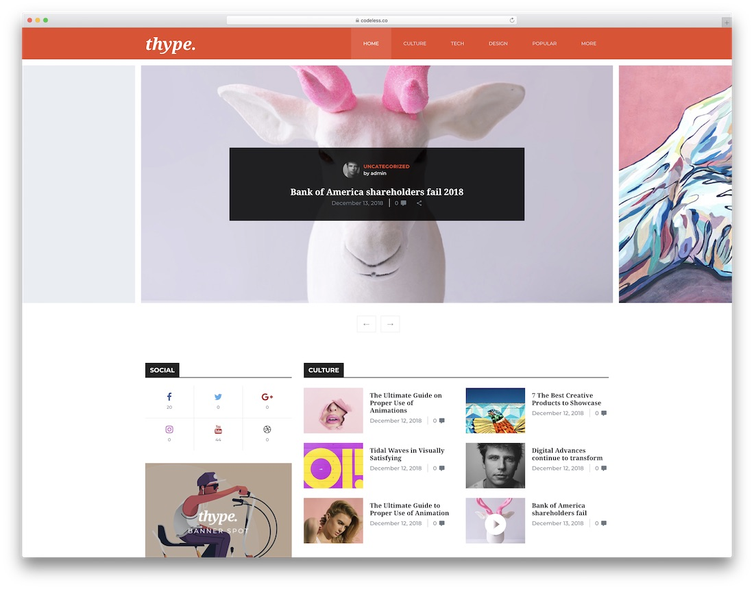 thype magazine wordpress theme
