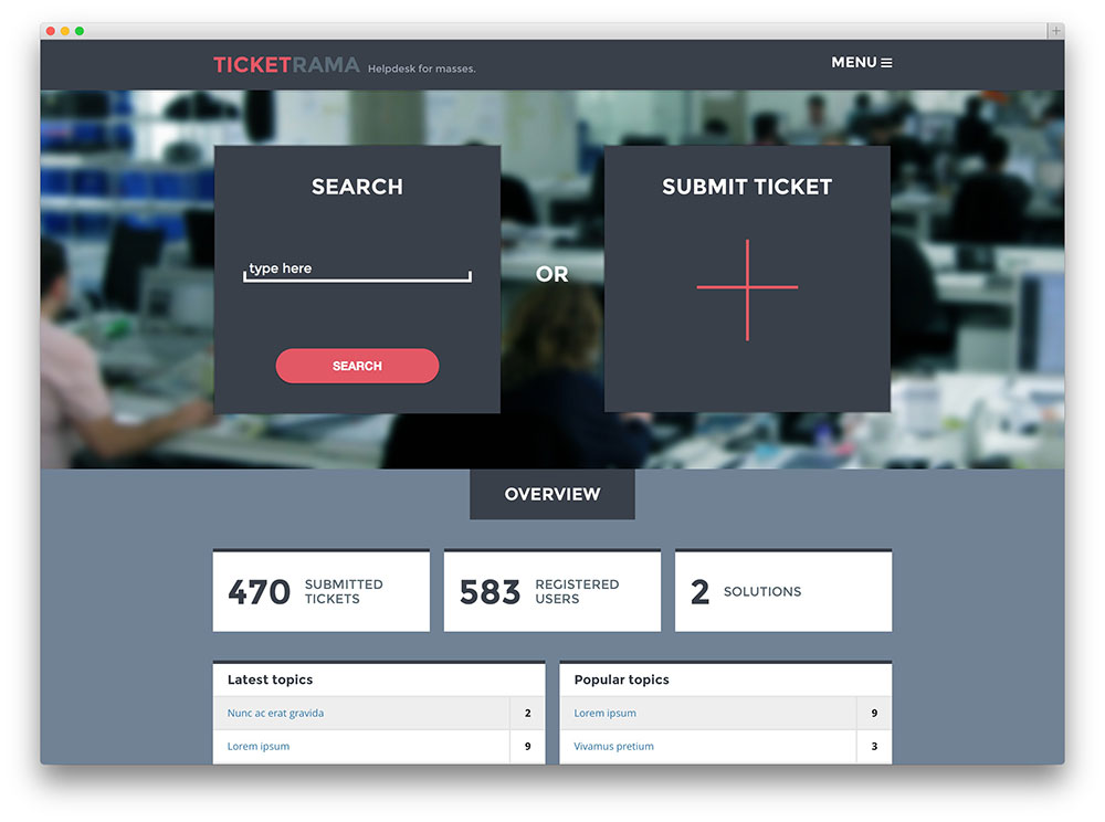 ticketrama helpdesk for WordPress