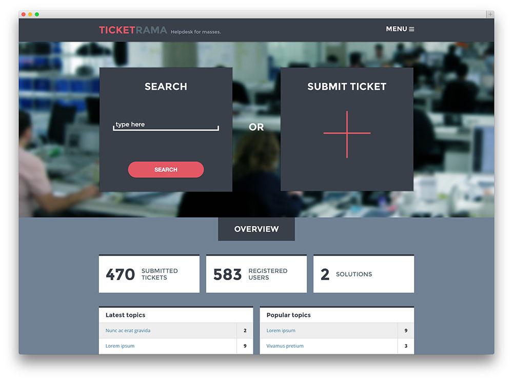 ticketrama helpdesk for WordPress