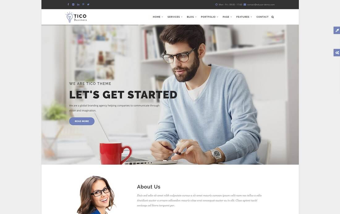 tico drupal business template