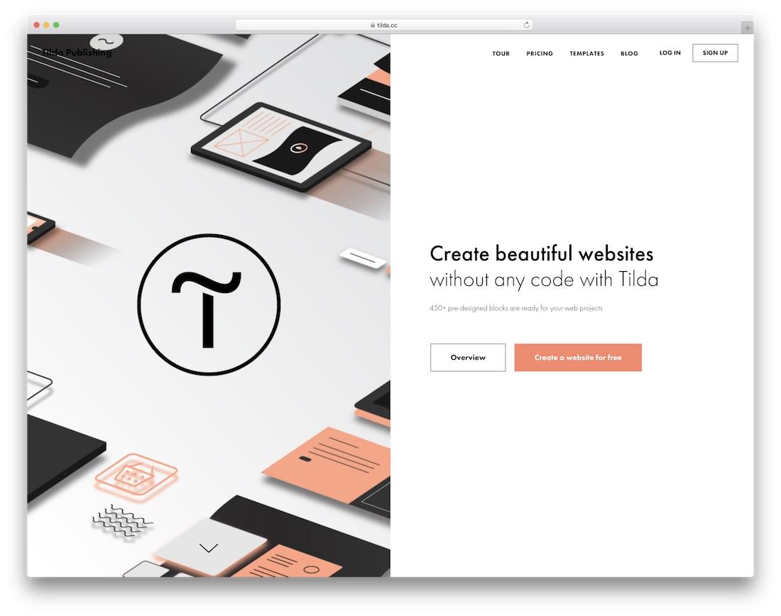 tilda free website builder