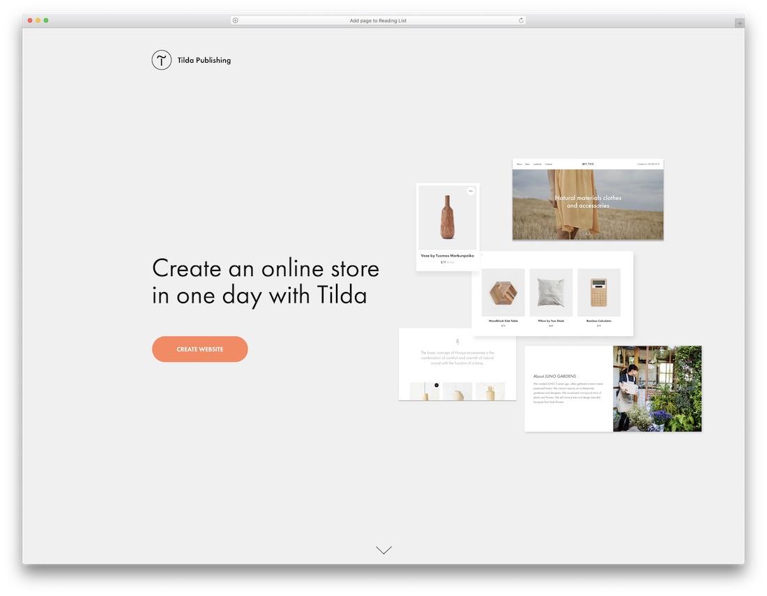 tilda responsive best online store builder