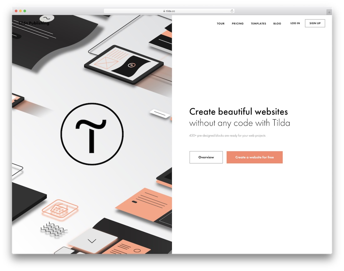 tilda website builder for construction company