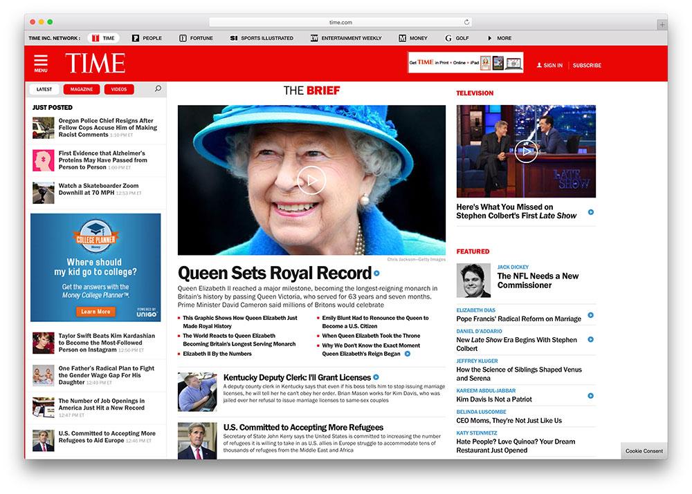 time-news-magazine-website