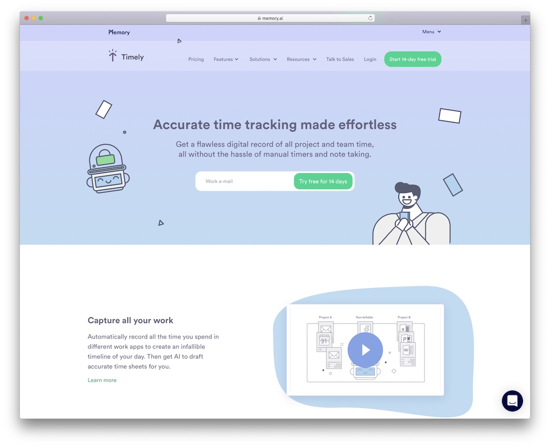 timely time tracking tool