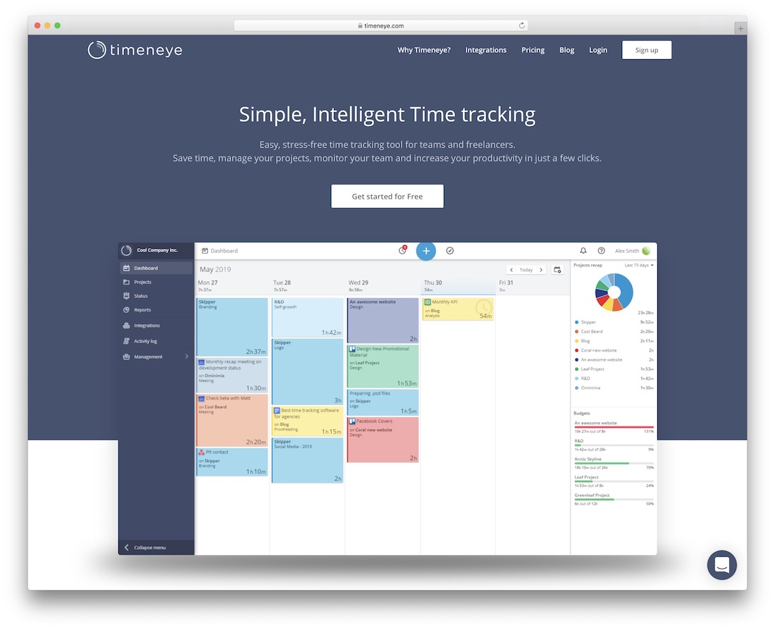 timeneye simple time tracking tool