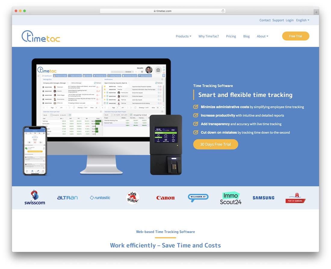 timetac time tracking tool