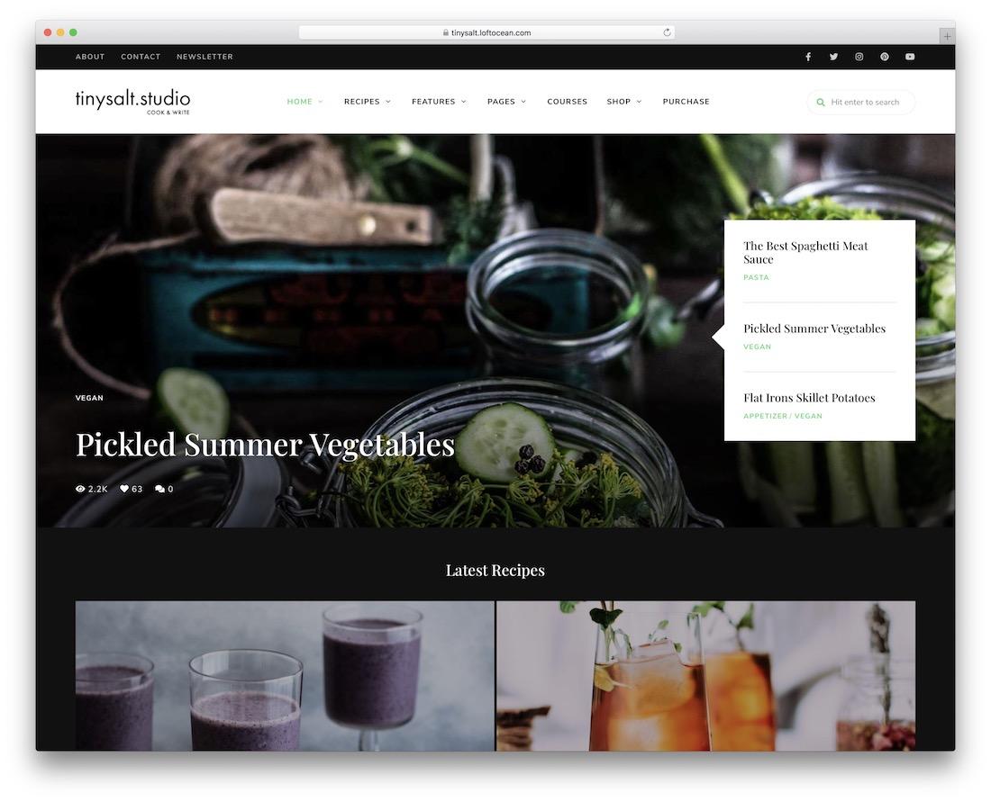 tinysalt blog website template